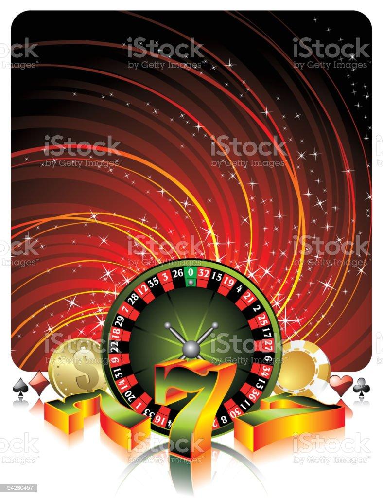 Casino illustration. royalty-free stock vector art