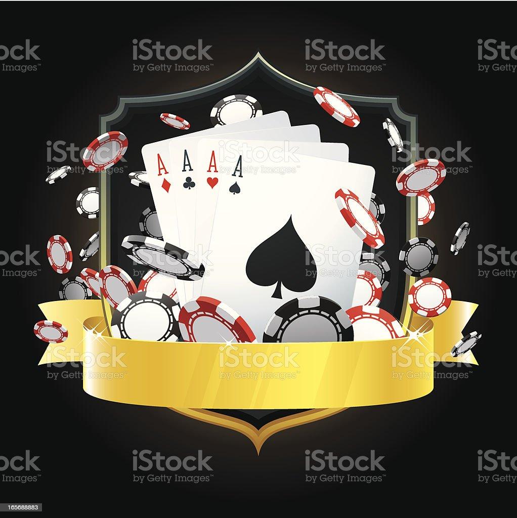 Casino insignia vector art illustration