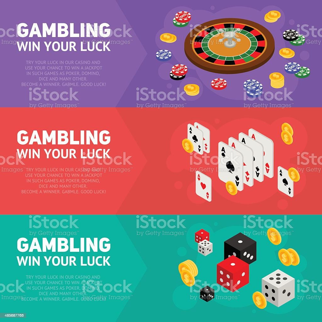 Casino isometric design concept of gambling templates vector art illustration