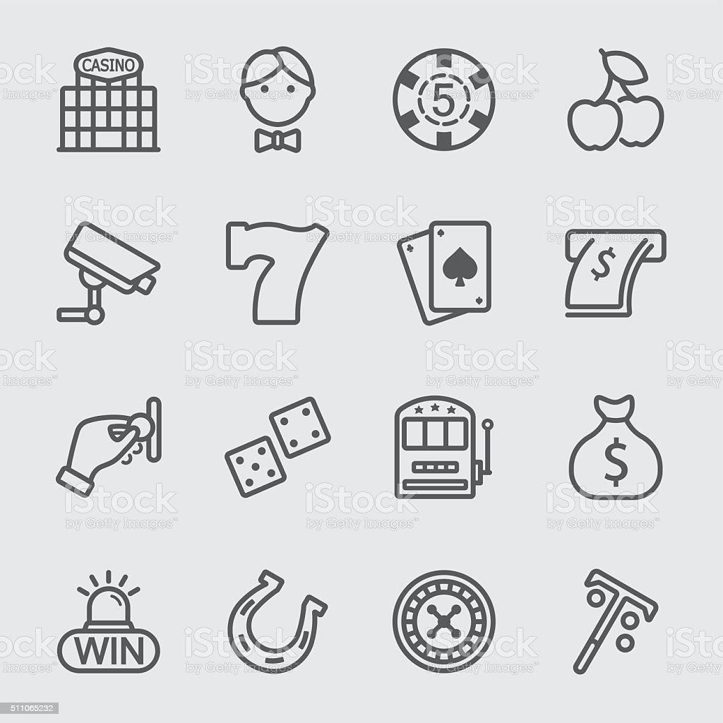 Casino line icon vector art illustration