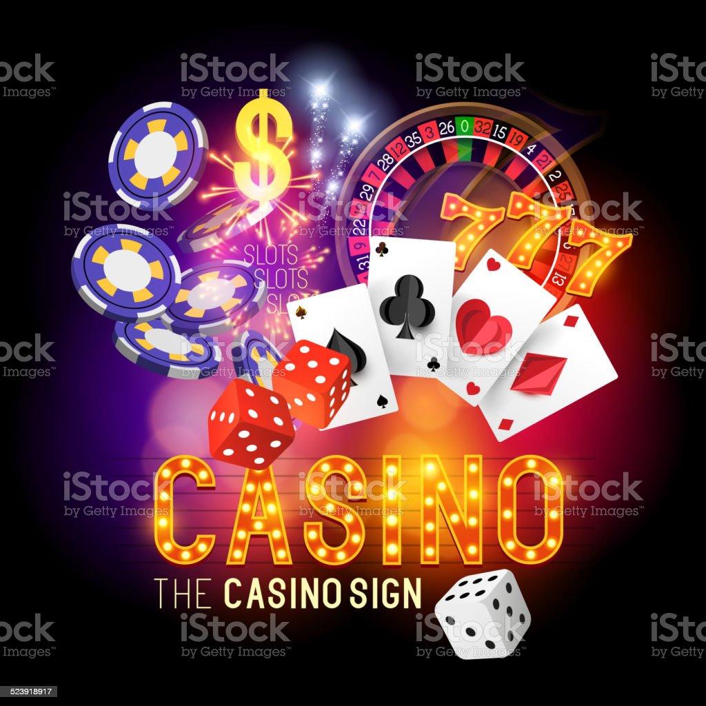 Casino Party Vector vector art illustration