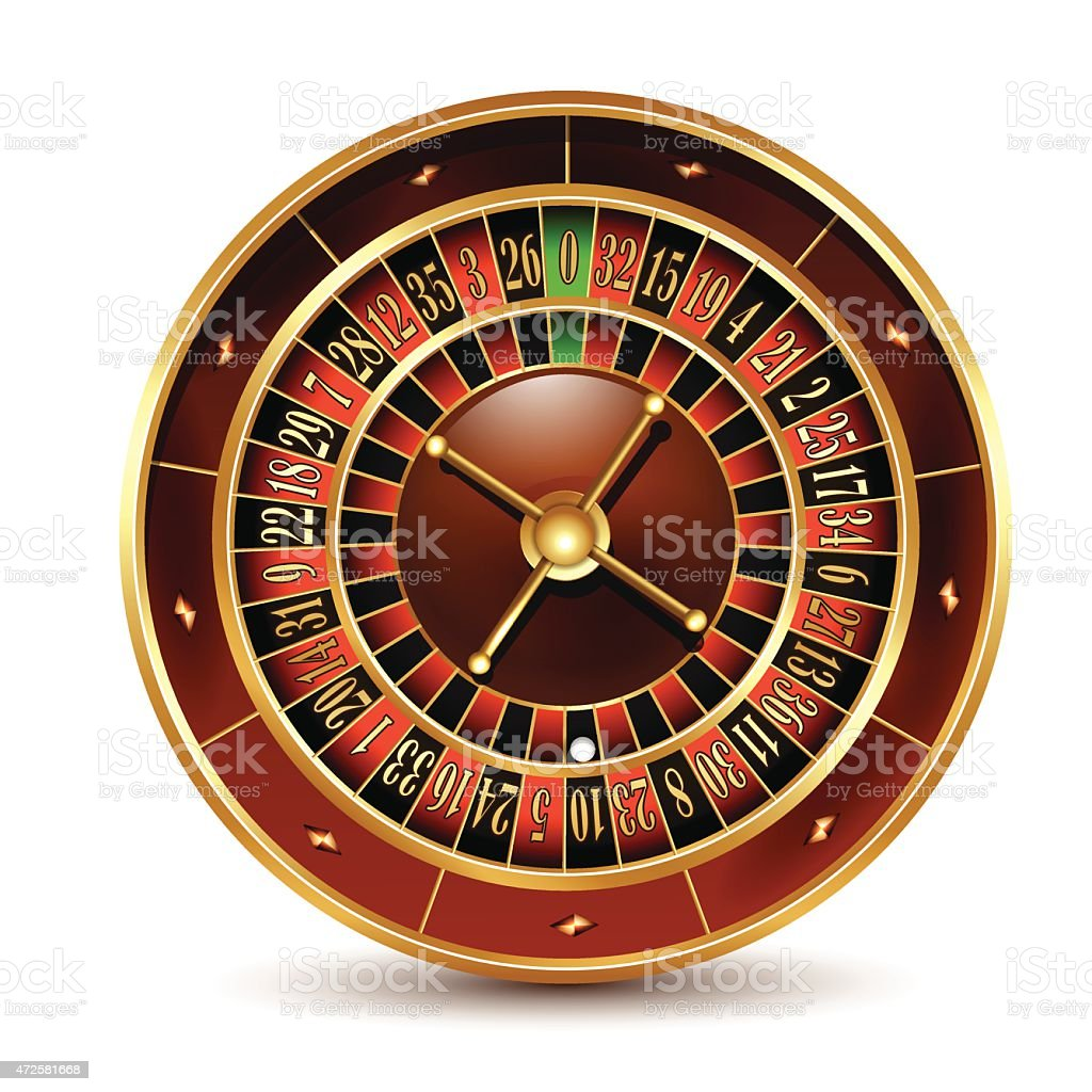 Casino roulette wheel. vector art illustration