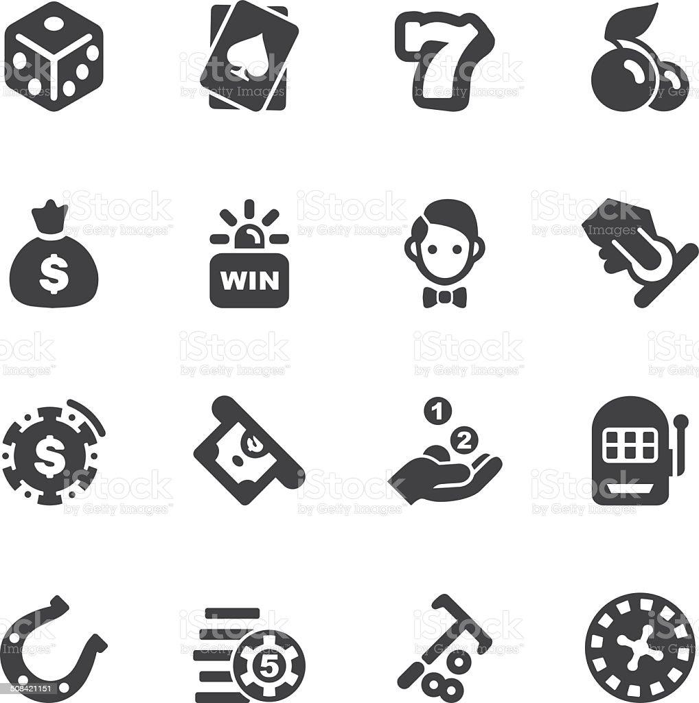 Casino Silhouette icons 1 | EPS10 vector art illustration