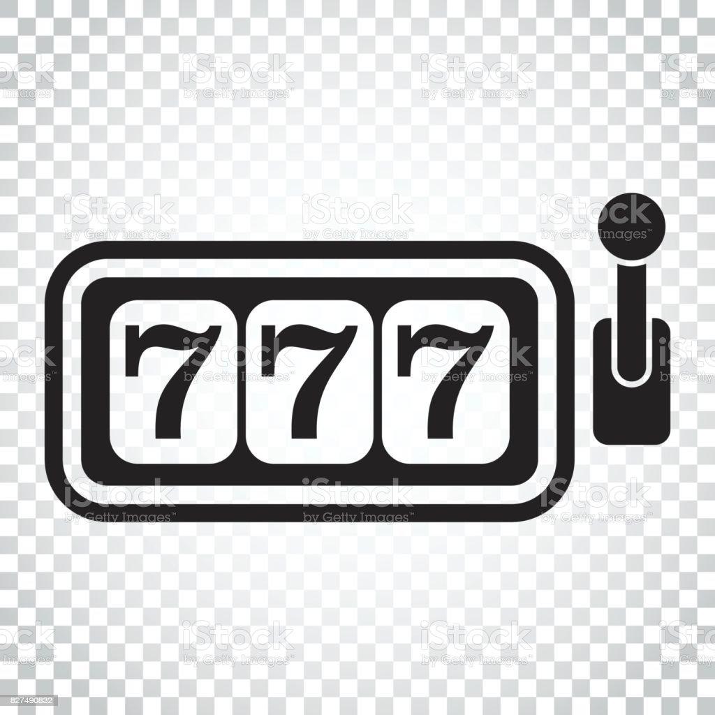 Casino slot machine flat vector icon. 777 jackpot illustration pictogram. Business concept simple flat pictogram on isolated background. vector art illustration