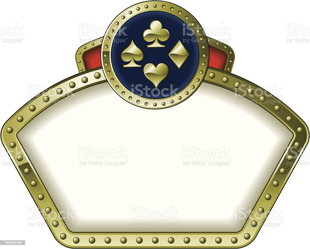 casino super frame royalty-free stock vector art