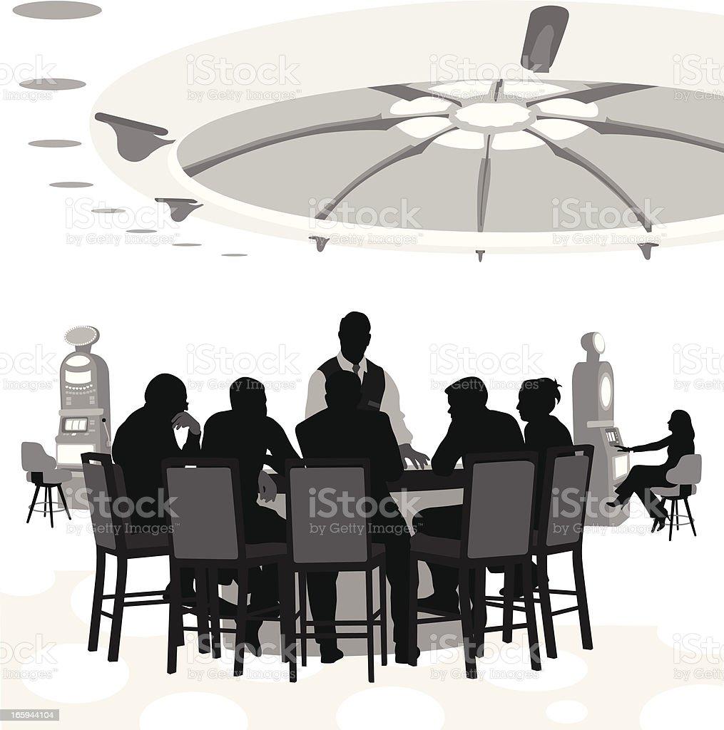 Casino Vector Silhouette vector art illustration