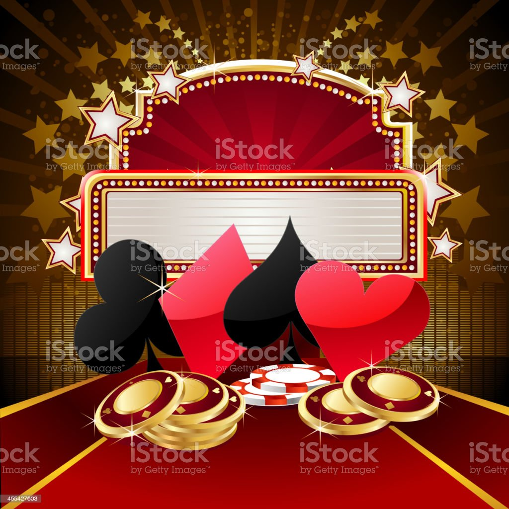 Casino with Marquee Display vector art illustration
