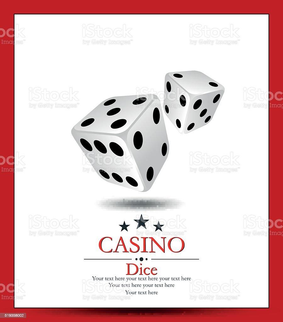 Casino.Vector two whit dice. vector art illustration