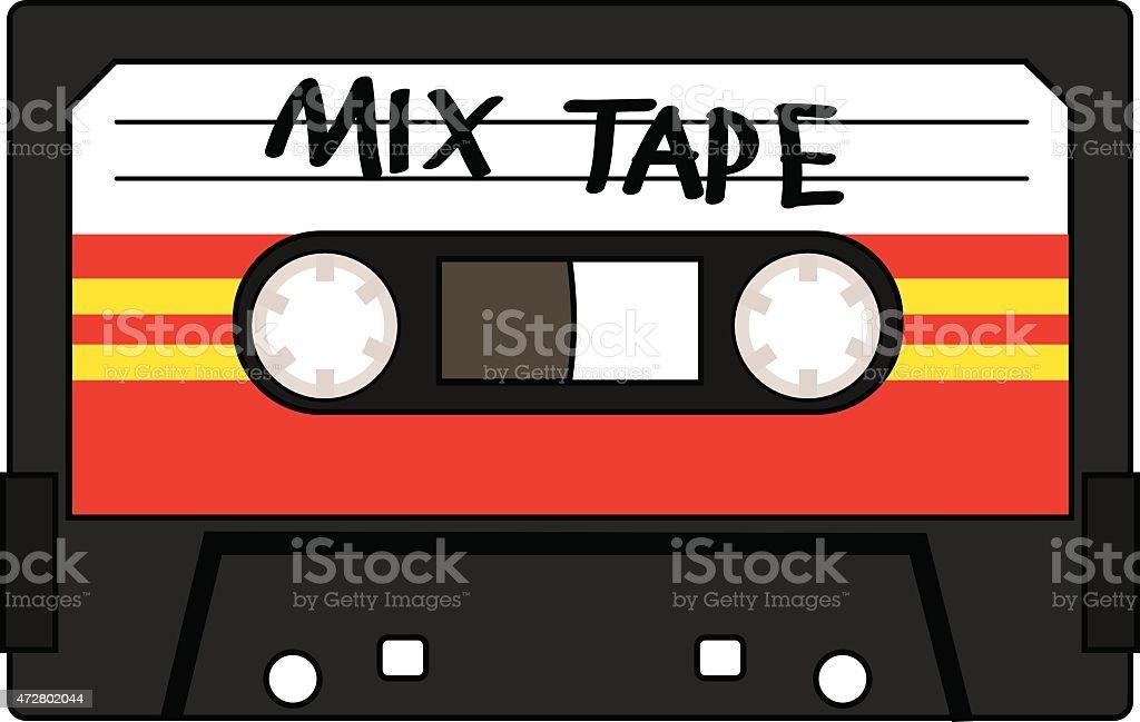 Cassette Mix Tape vector art illustration