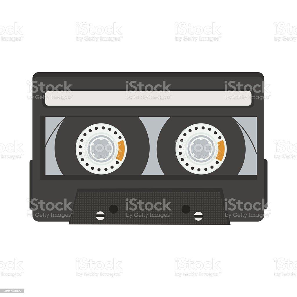 cassette tape isolated on white background vector art illustration