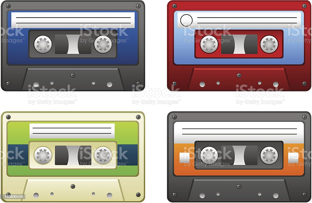 Cassette tapes royalty-free stock vector art