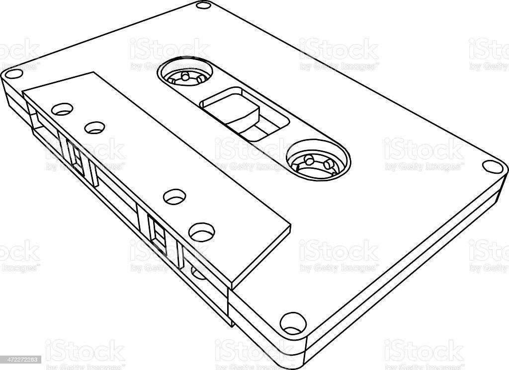 Cassette royalty-free stock vector art