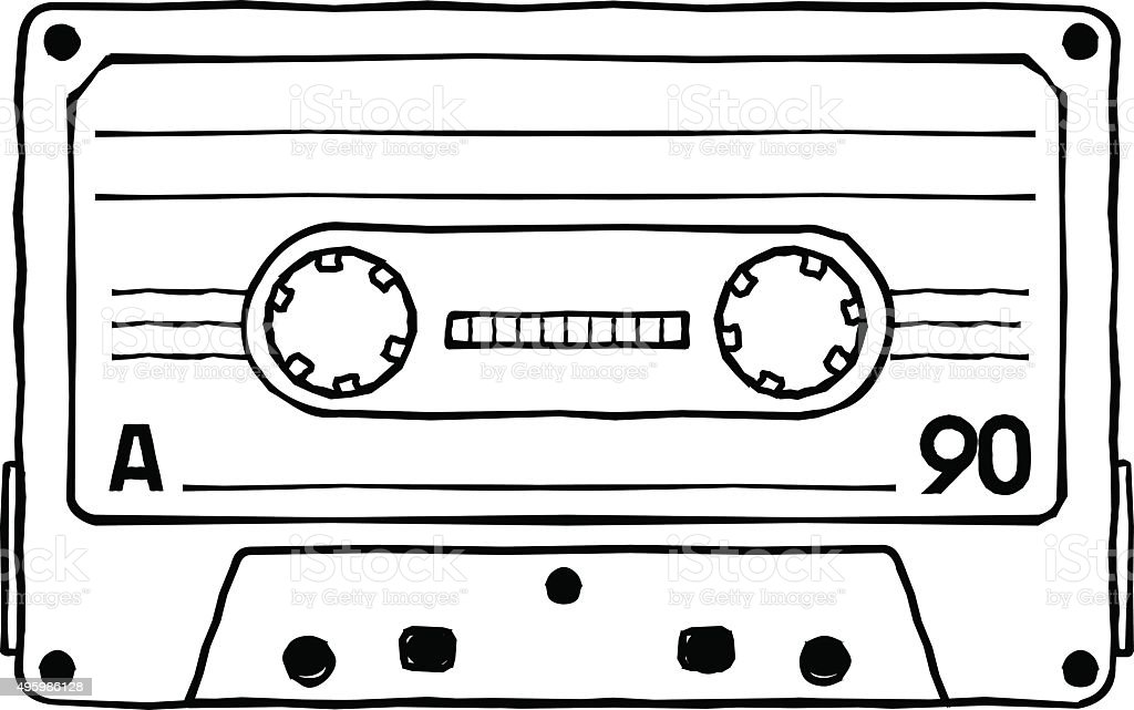 cassettes vector art illustration