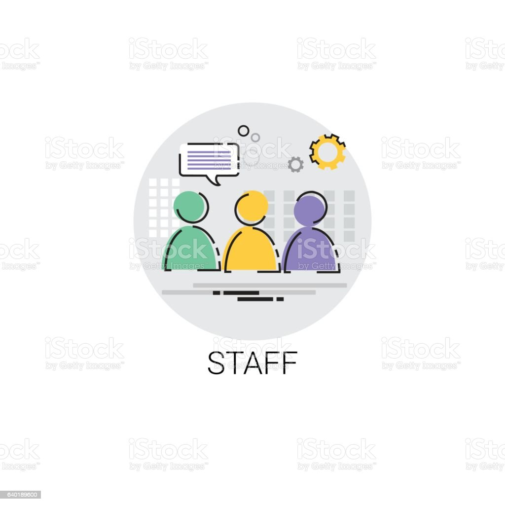 Casting Staff Camera Film Production Industry Icon vector art illustration
