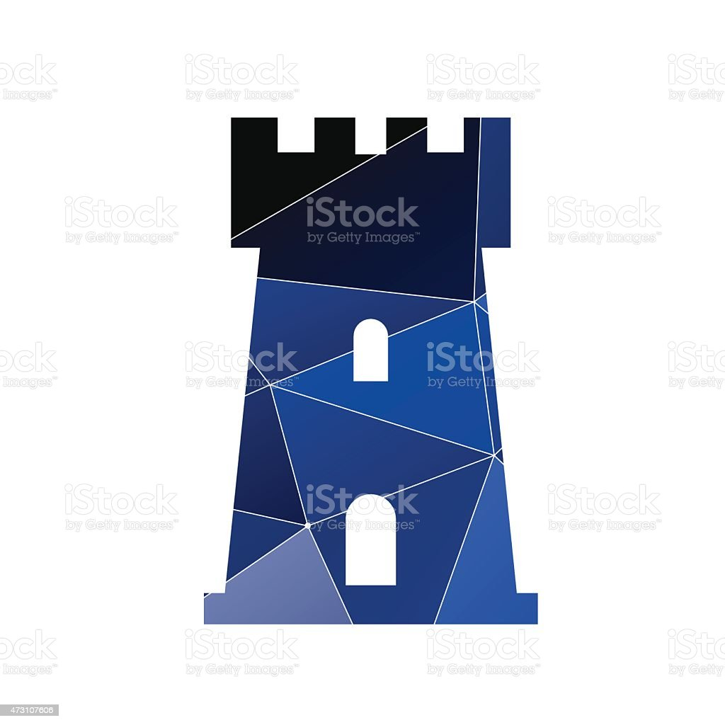castle icon Abstract Triangle vector art illustration