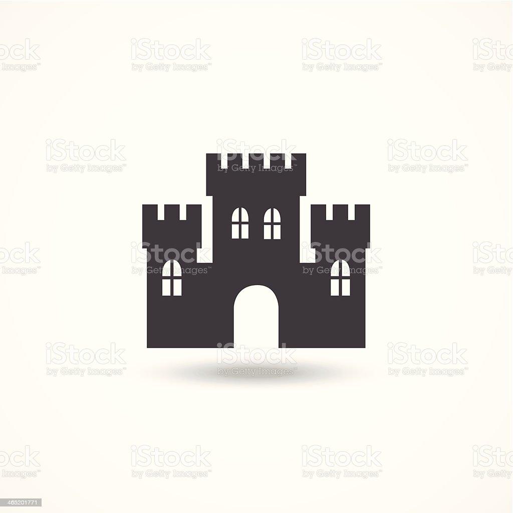 Castle icon vector art illustration