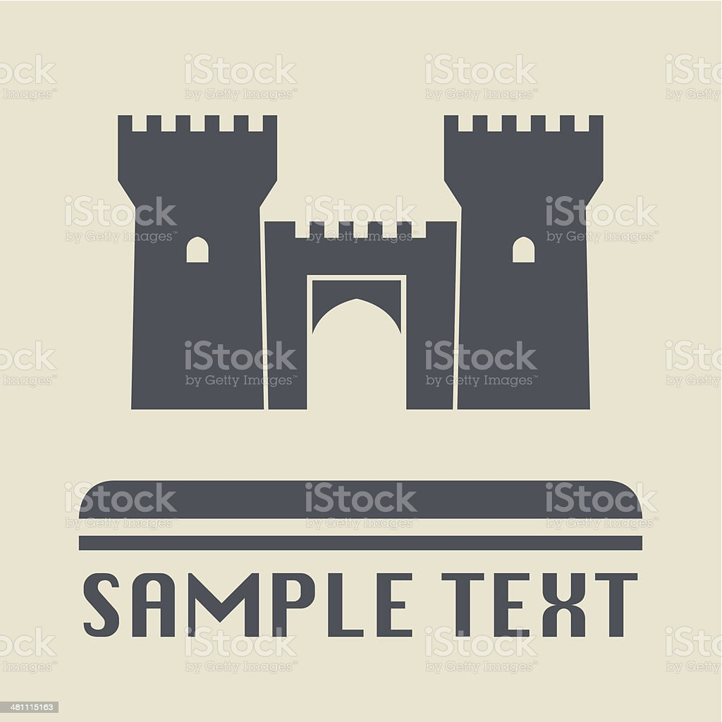 Castle icon vector art illustration
