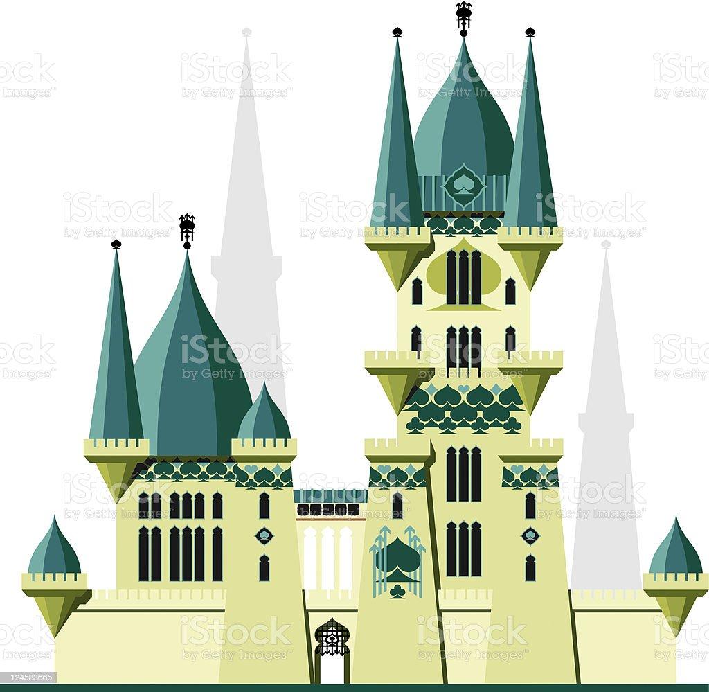 Castle Kingdom Spades royalty-free stock vector art