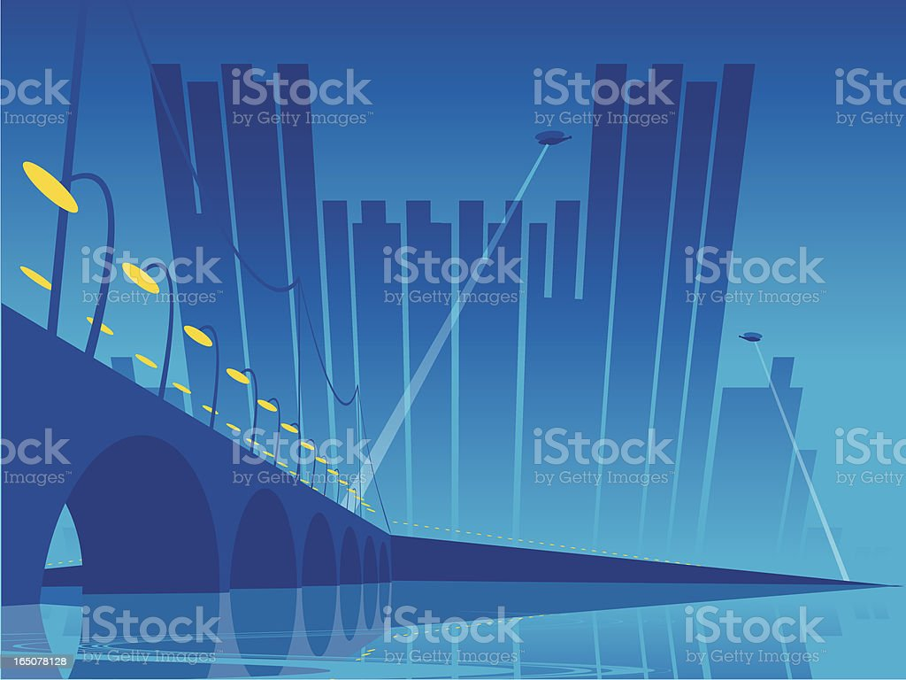 Castle Metropolis royalty-free stock vector art