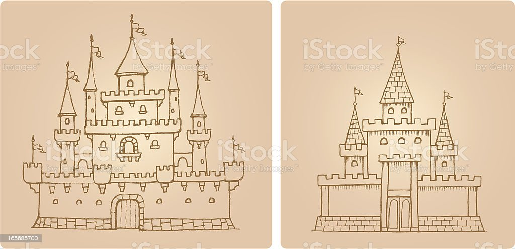 Castle Set royalty-free stock vector art