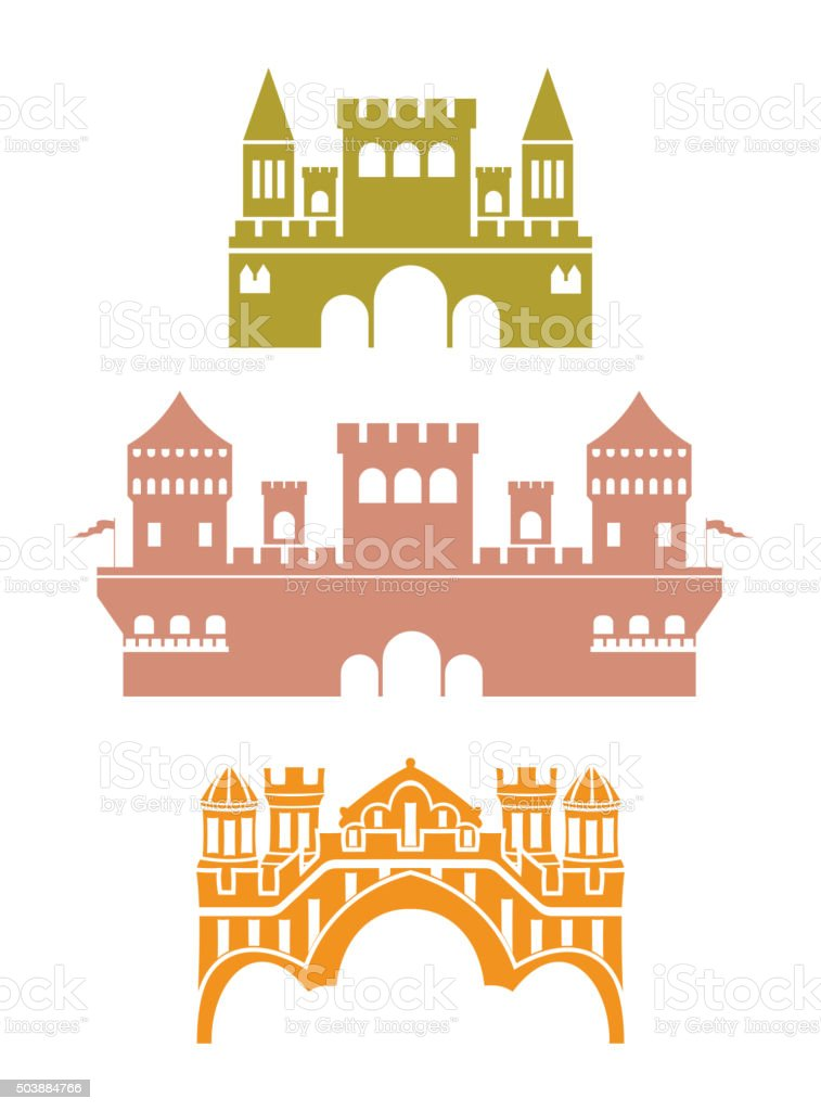 Castle vector art illustration
