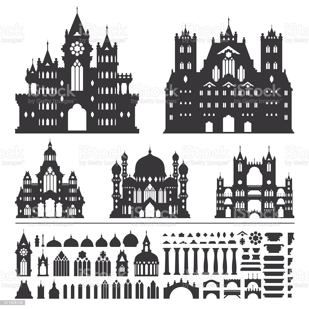 Castle Vector vector art illustration