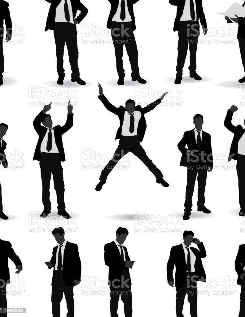 Casual Business people pose royalty-free stock vector art