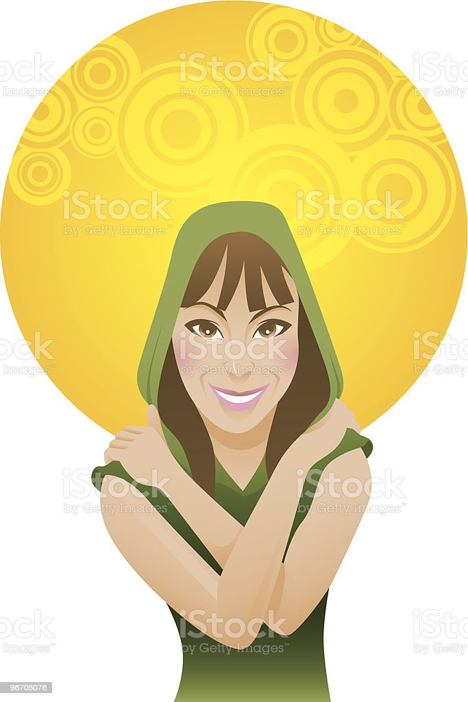 Casual Girl royalty-free stock vector art