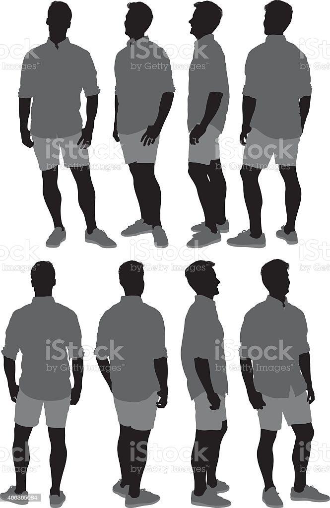 Casual man vector art illustration