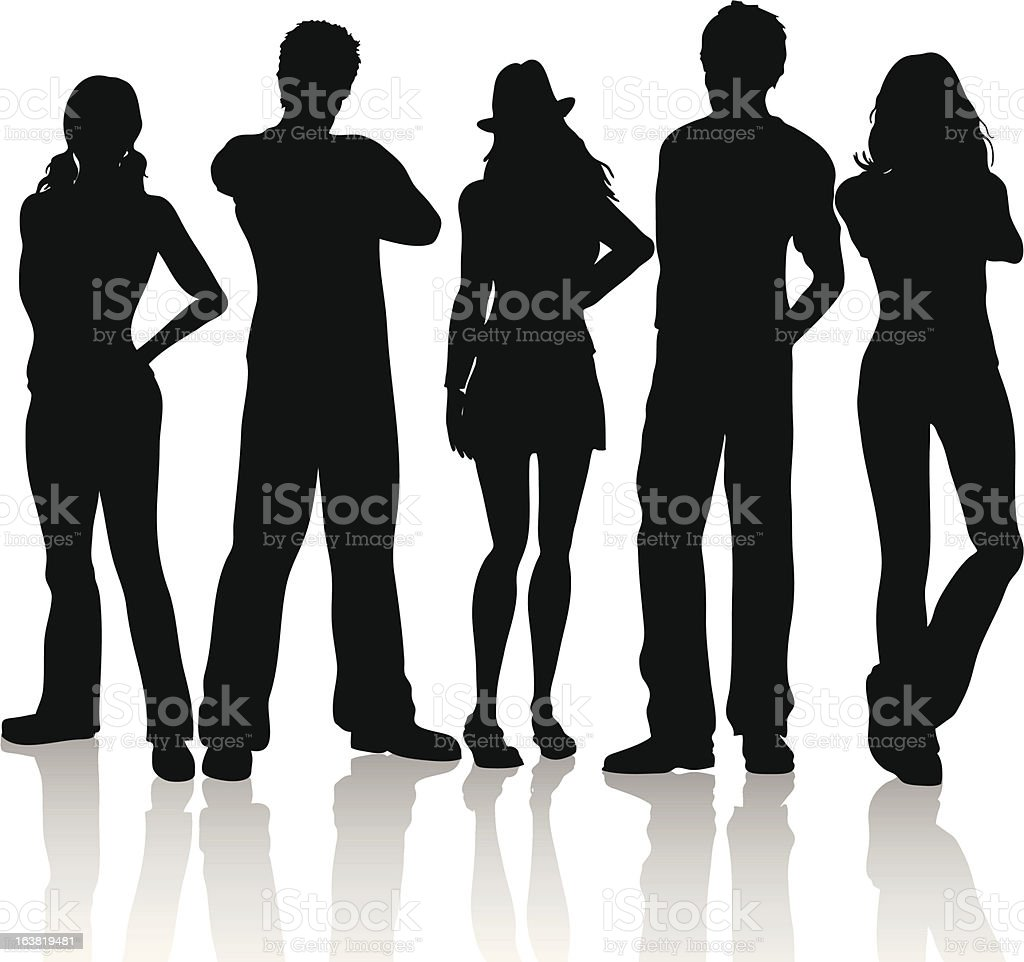 Casual people vector art illustration
