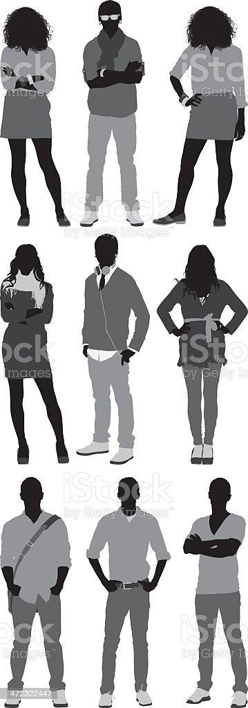 Casual people vector art illustration