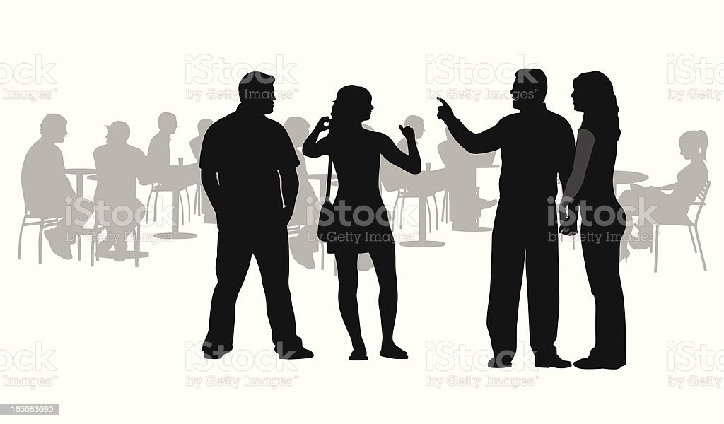 Casual Vector Silhouette royalty-free stock vector art