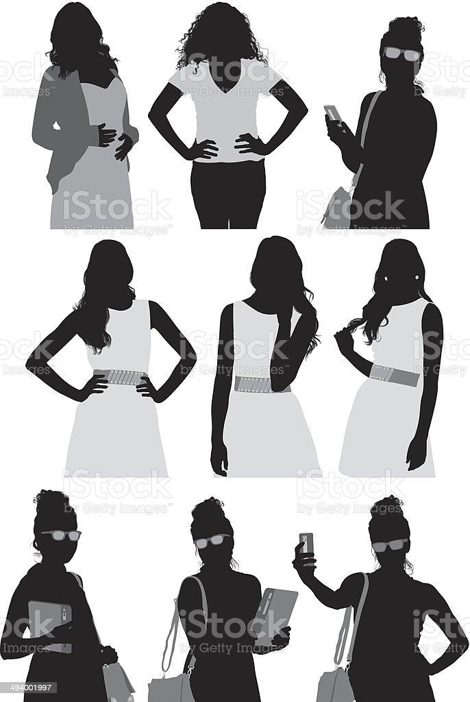 Casual woman vector art illustration