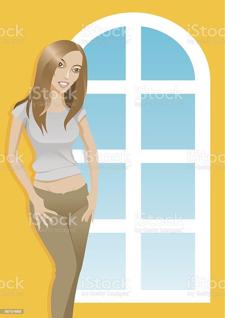 Casual Woman royalty-free stock vector art