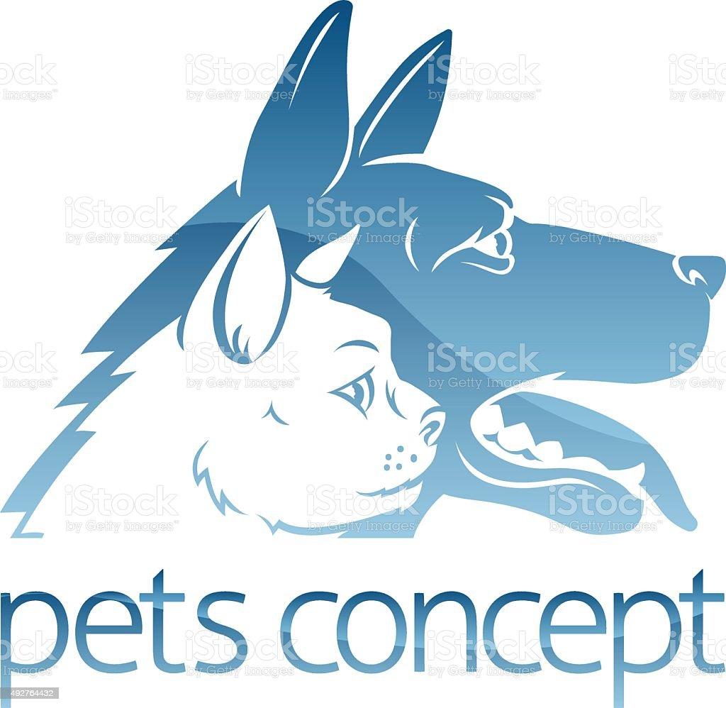 Cat ad Dog Pets Concept vector art illustration