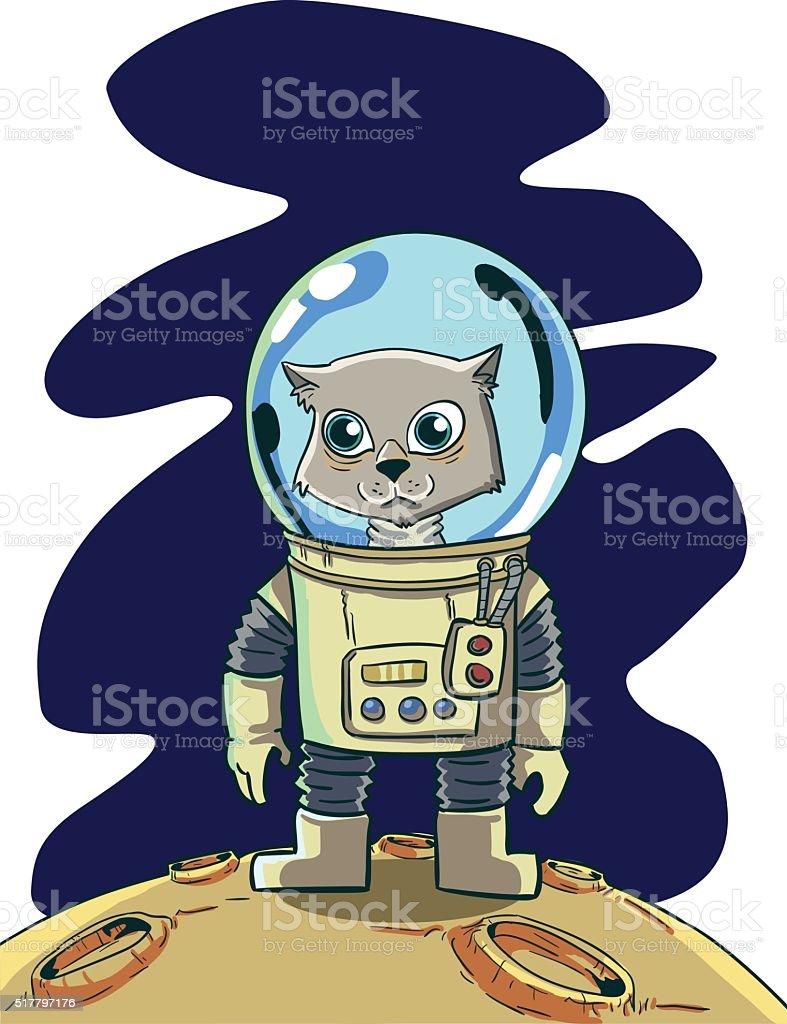 Chat Astronaute stock vecteur libres de droits libre de droits