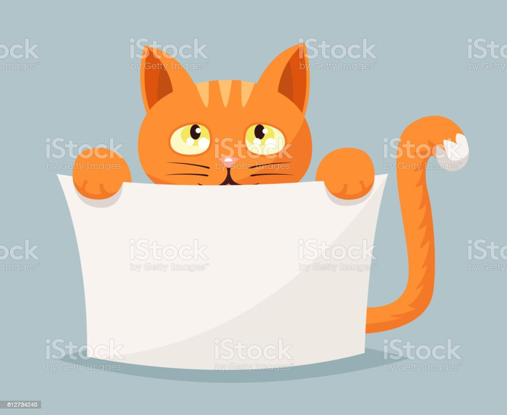 Cat beggar help animals cartoon character vector illustration vector art illustration