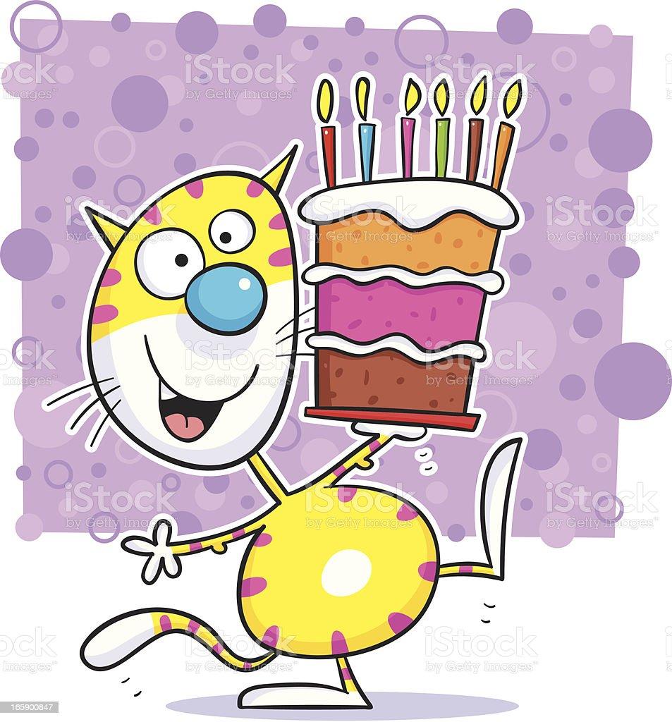 Cat cake royalty-free stock vector art