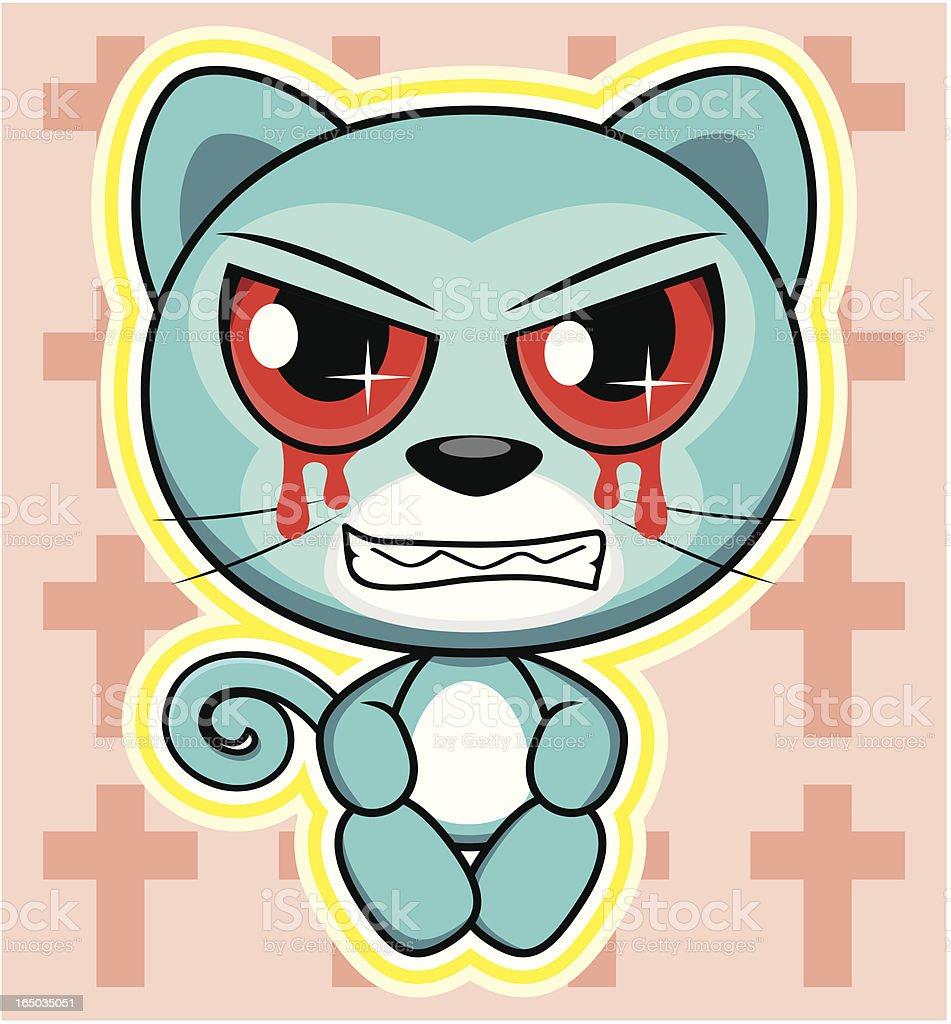 Cat Cartoon royalty-free stock vector art