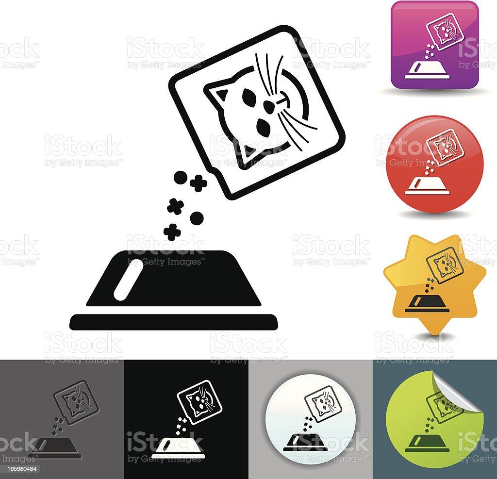 Cat food icon | solicosi series vector art illustration