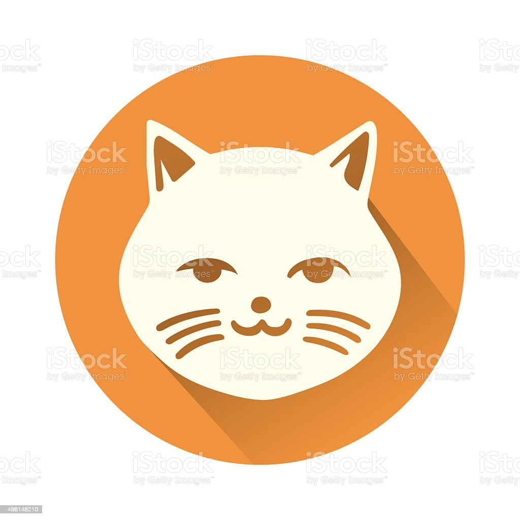 cat head vector art illustration