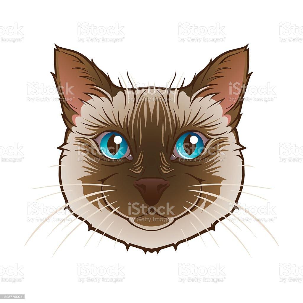 Cat head vector art illustration