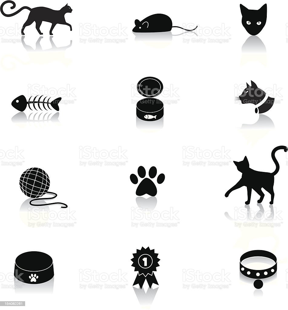 Cat Icons royalty-free stock vector art