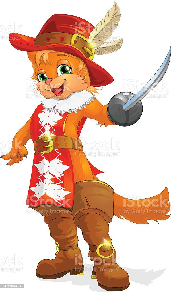 cat in boots royalty-free stock vector art