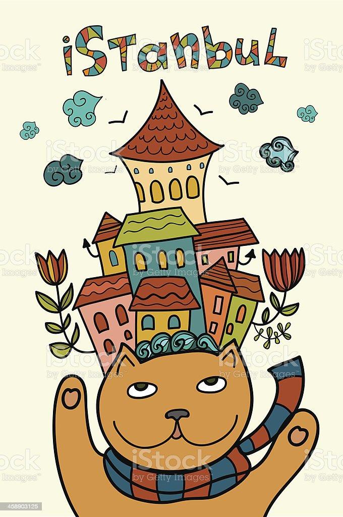 Cat de la ciudad de Estambul illustracion libre de derechos libre de derechos