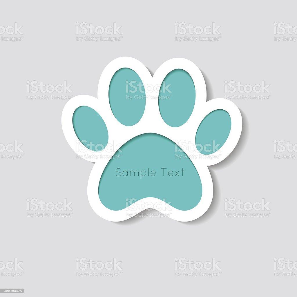 Cat paw banner - vector illustration vector art illustration