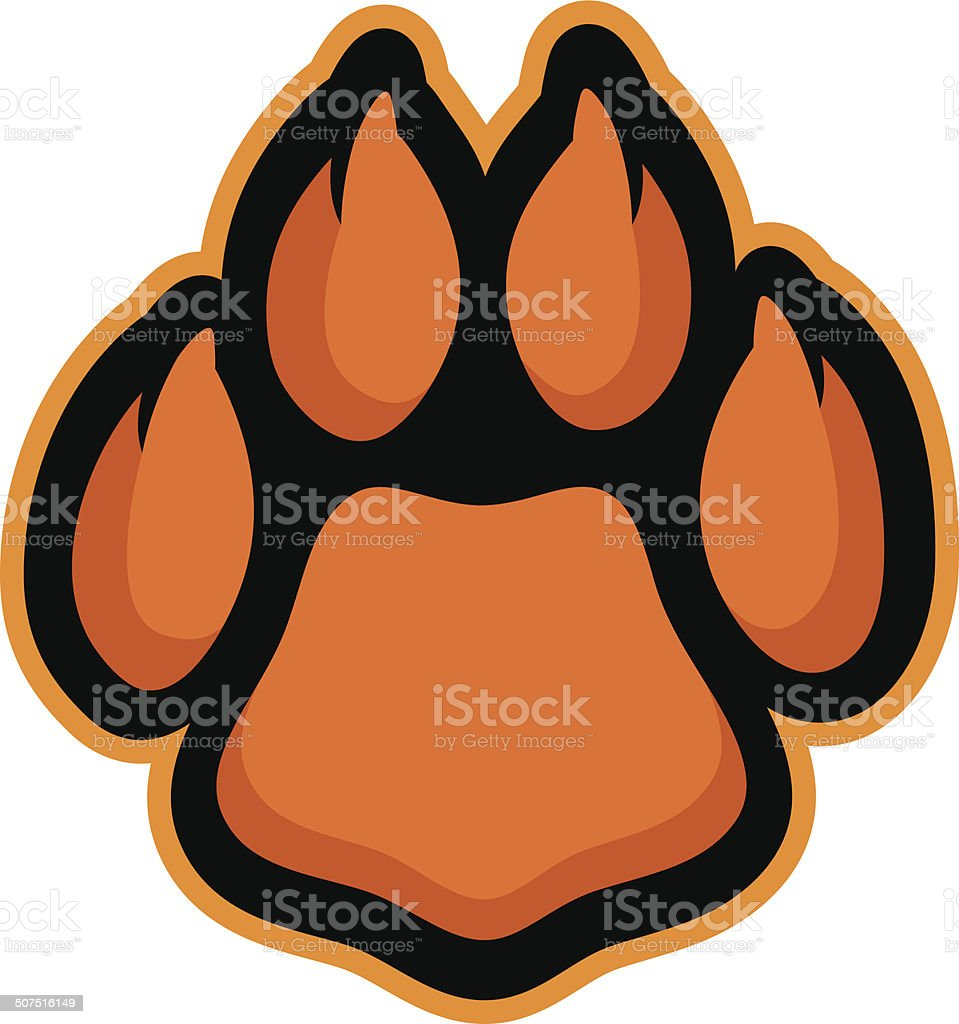 Cat Paw vector art illustration