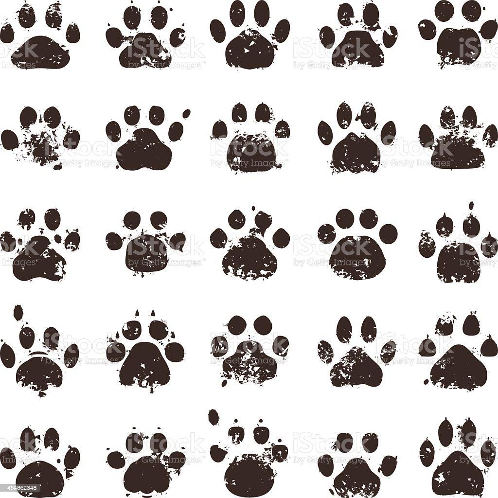 Cat Prints vector art illustration