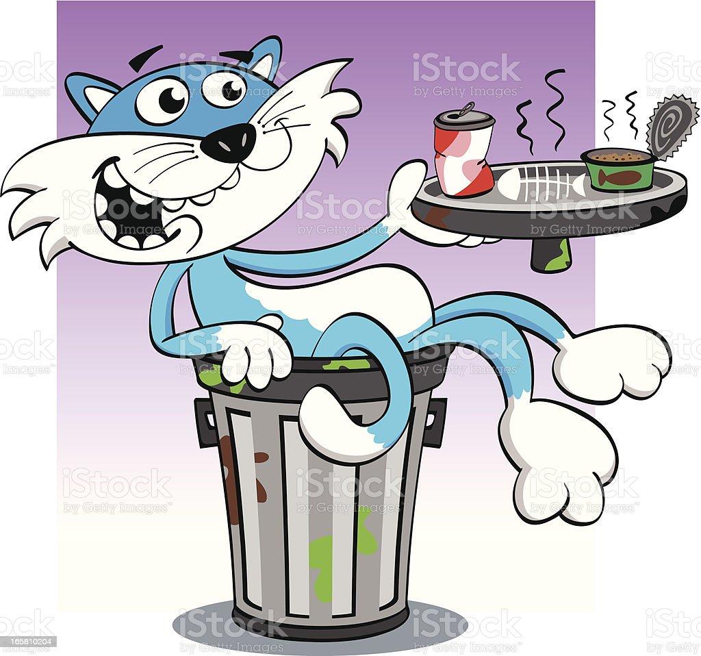 Cat Snack vector art illustration