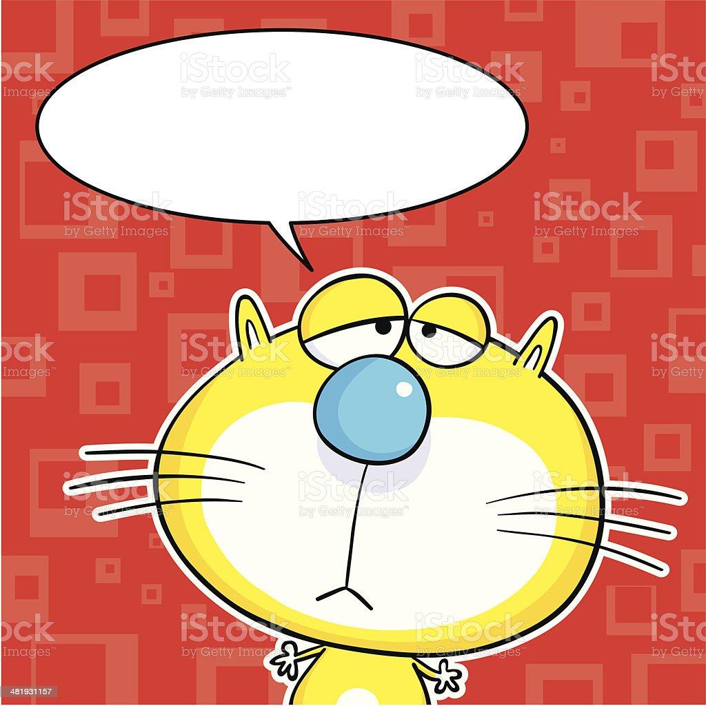 Cat speech bubble royalty-free stock vector art